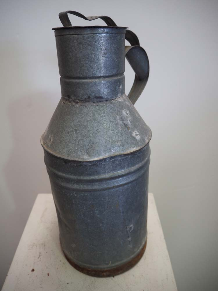 Vintage Turkish Galvanised Canister