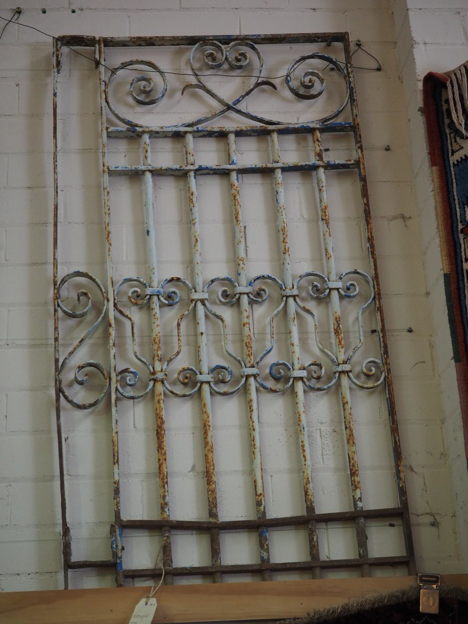 Antique Wrought Iron Ottoman Grille