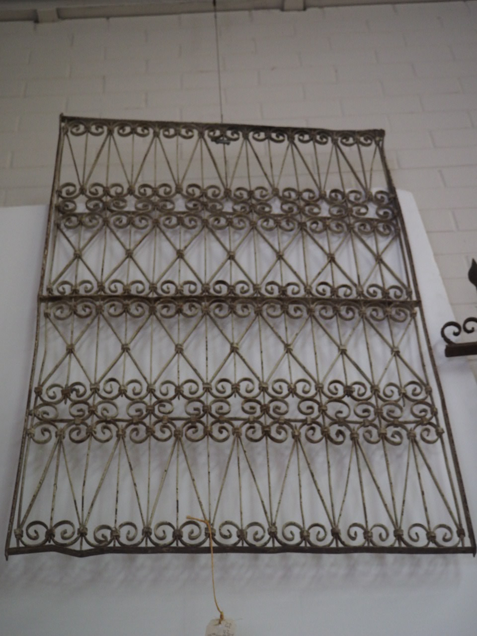 Antique 19th Century Ottoman wrought iron Grille