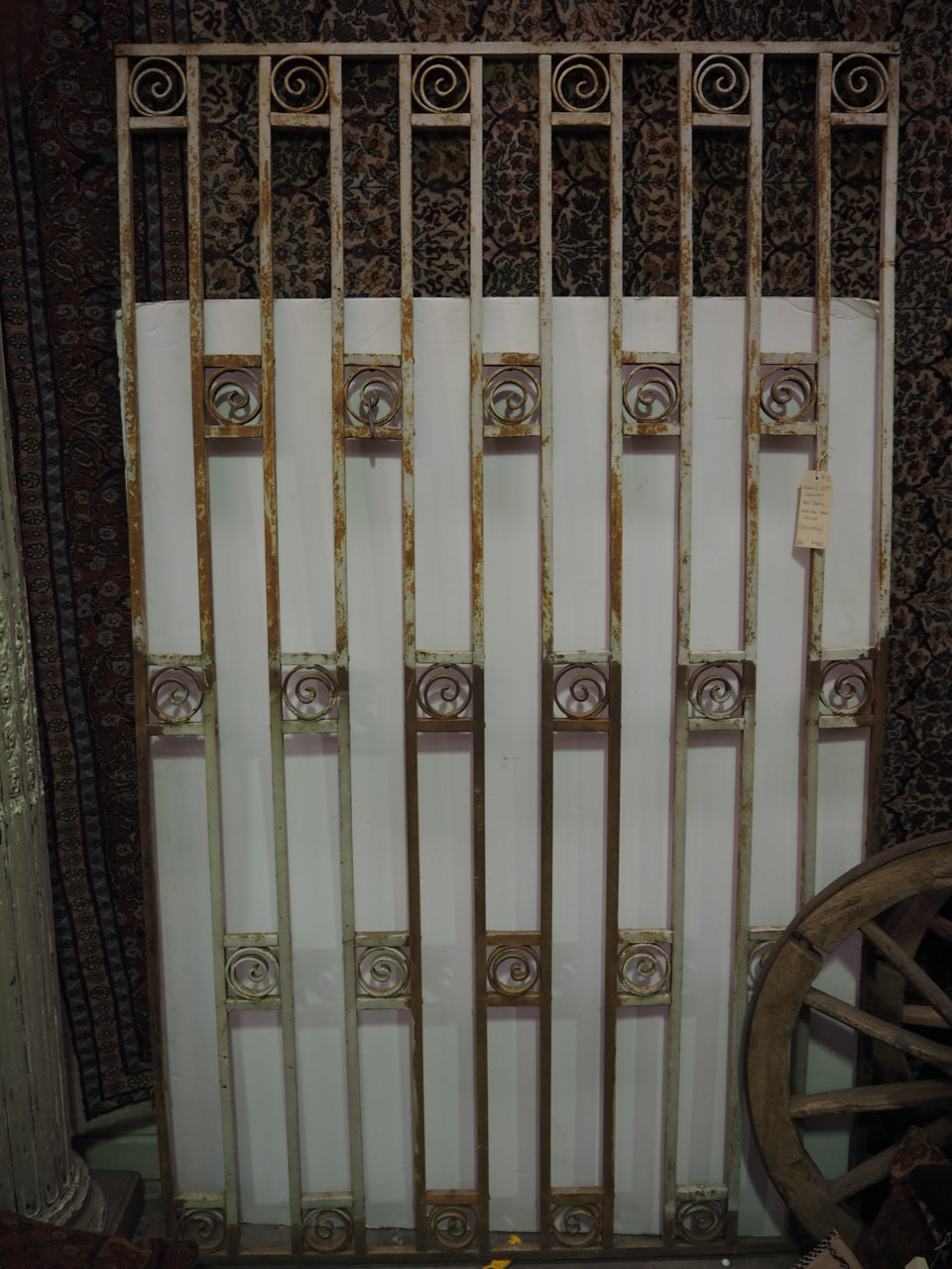 Antique Early 20th Century Art Deco Wrought Iron Grille