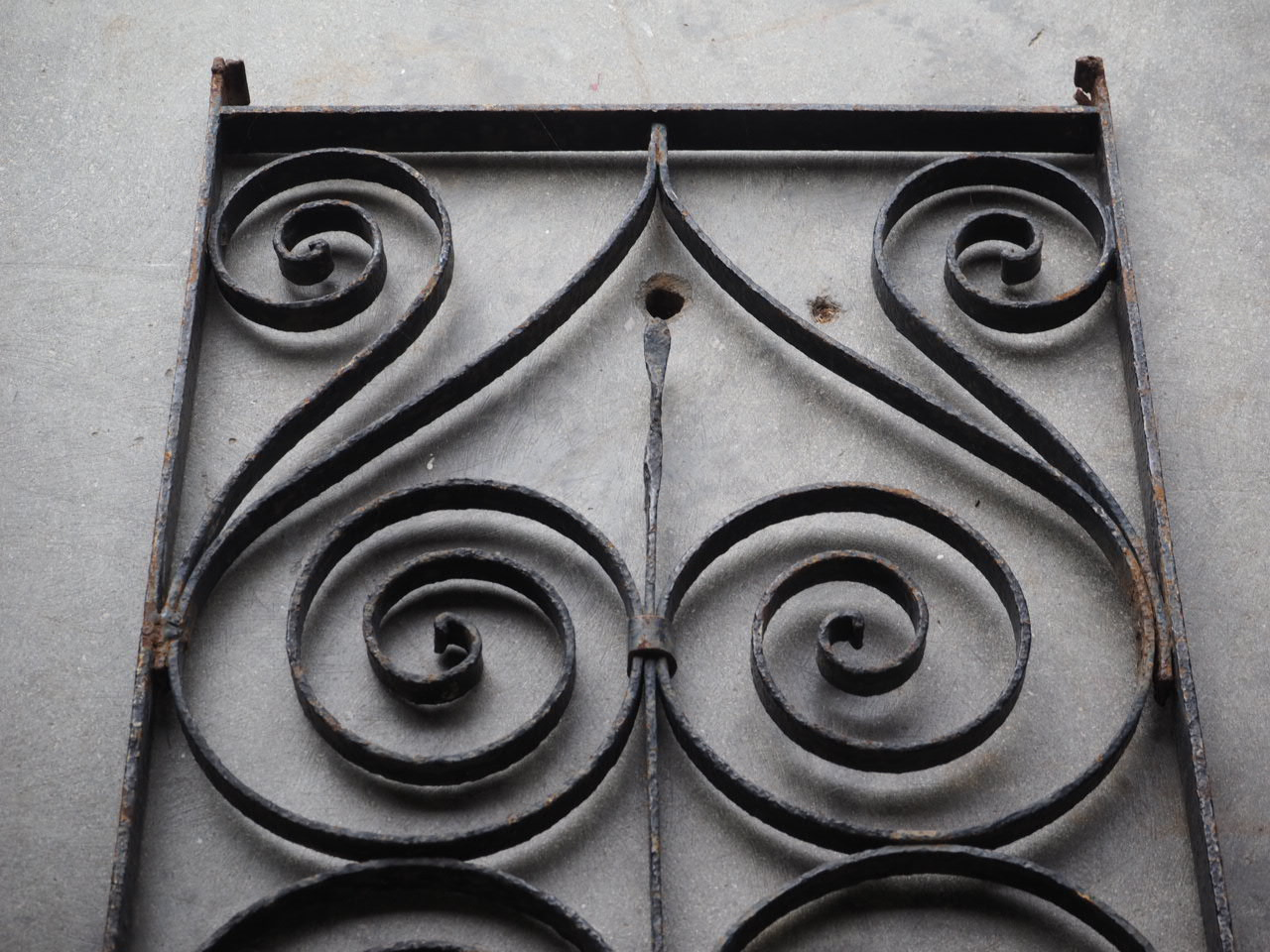 19th Century Ottoman wrought iron grille