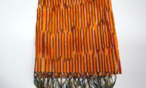 Hand loomed silk Ikat scarf