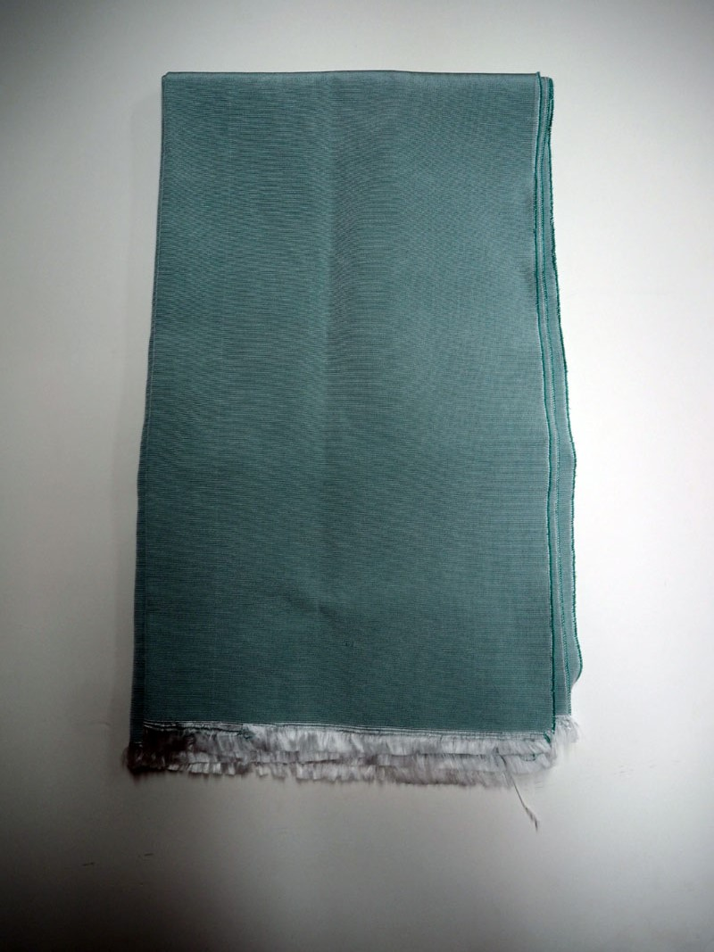 Hand loomed Turkish Silk Turquoise scarf