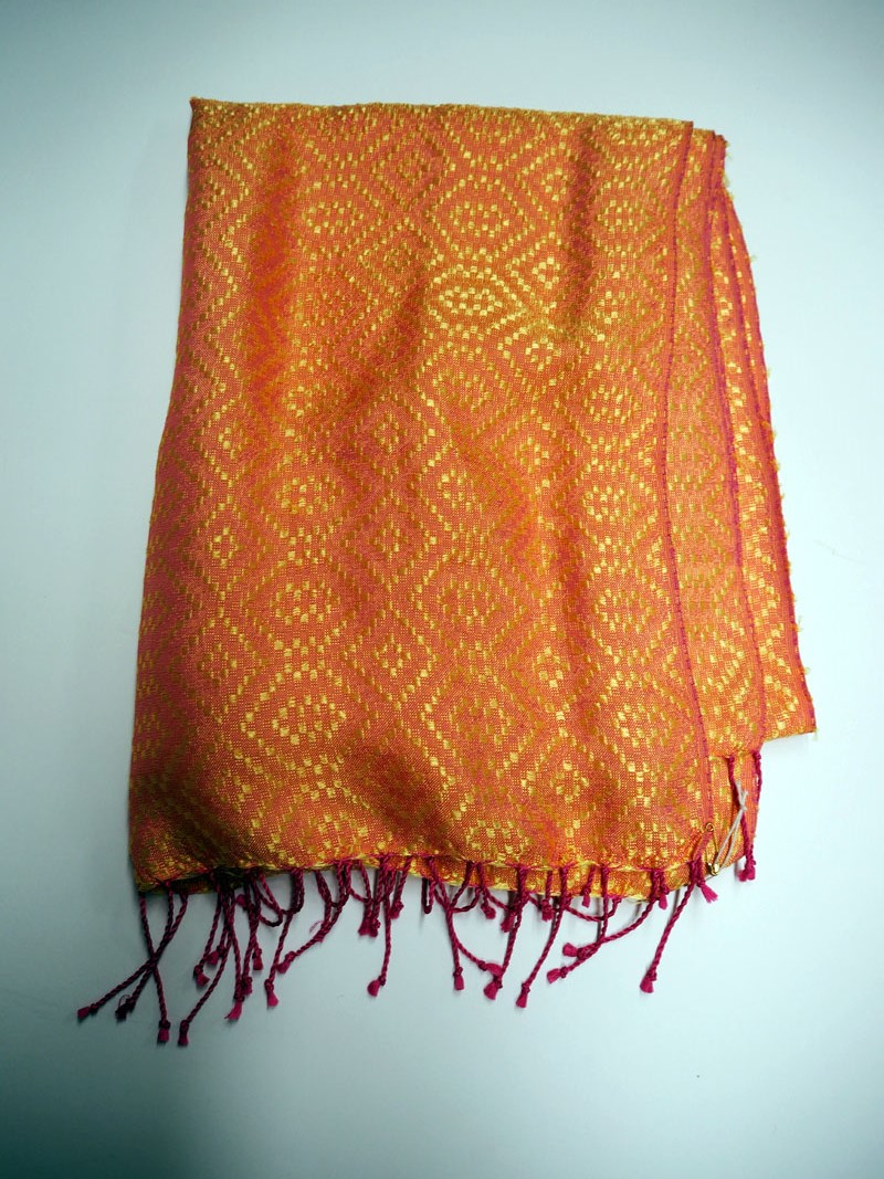 Turkish hand loomed silk scarf