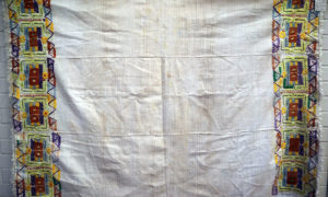 Fine Hand Loomed cotton and silk Embroidered picnic blanket from Baleksir, late 19th century