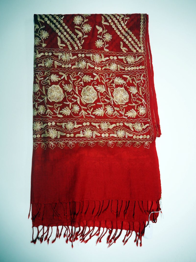 Kashmiri Silk on wool Turkish scarf