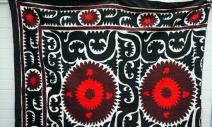 Large Uzbeki Suzani bed cover/Throw, approximately 80 - 90 years old