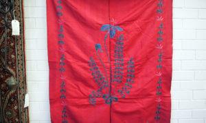 Vintage Ottoman Suzani Iris Motif