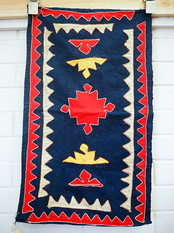 Vintage cotton patchwork cover from Uzbekistan