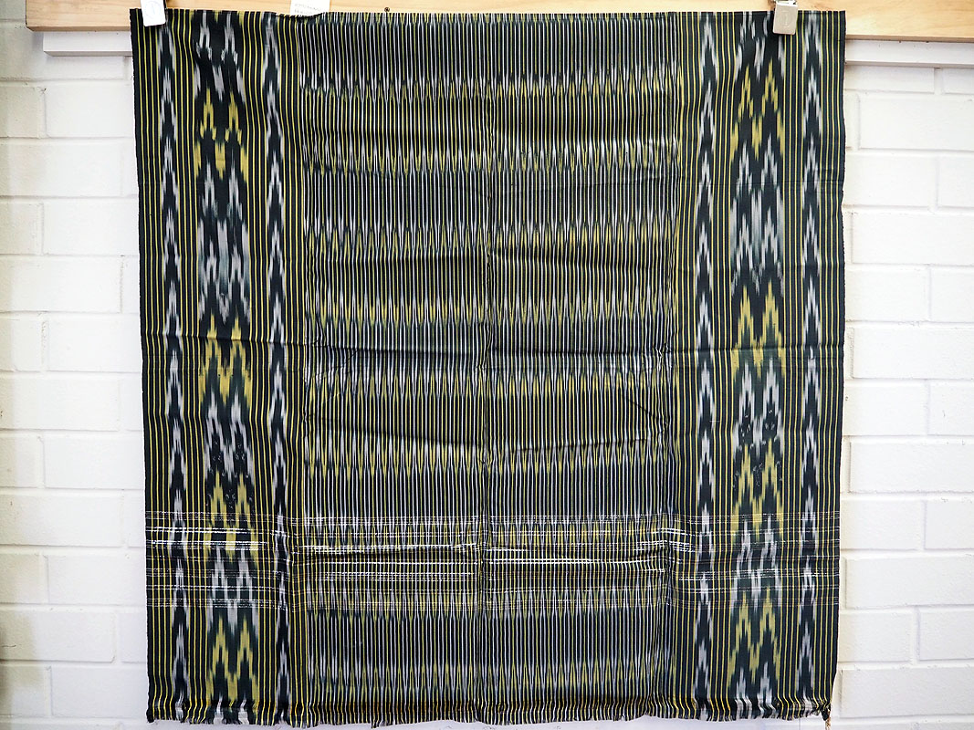 Central Asian artificial silk Ikat cloth