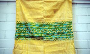 Fine antique Ottoman Silk embroidered silk cloth c.1900