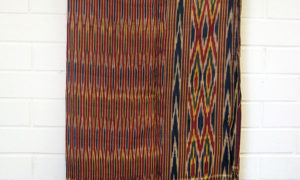 Rare very fine hand loomed syrian silk Ikat hamam towel/wrap