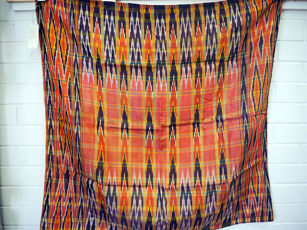 Late 19th century/early 20th century Ottoman period Ikat weaving