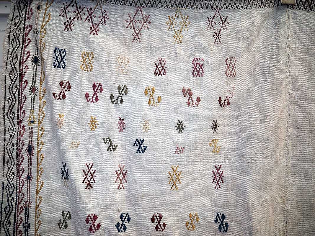 Fine & Antique Anatolian 'cicim' or embroidered Kilim from the Mut tribe ( Foot of the Taurus mountains) Approximately 100 years old