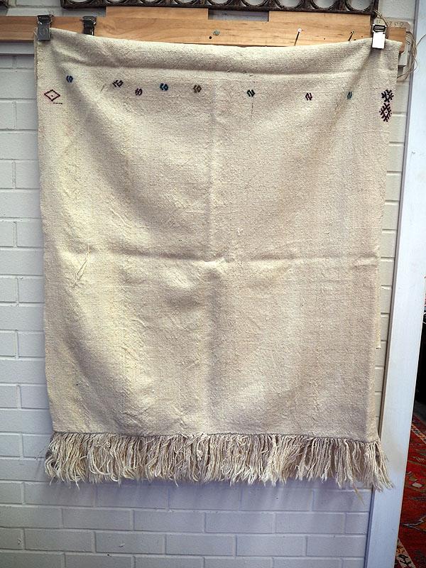 Vintage Anatolian Shepherds kilim Bed cover
