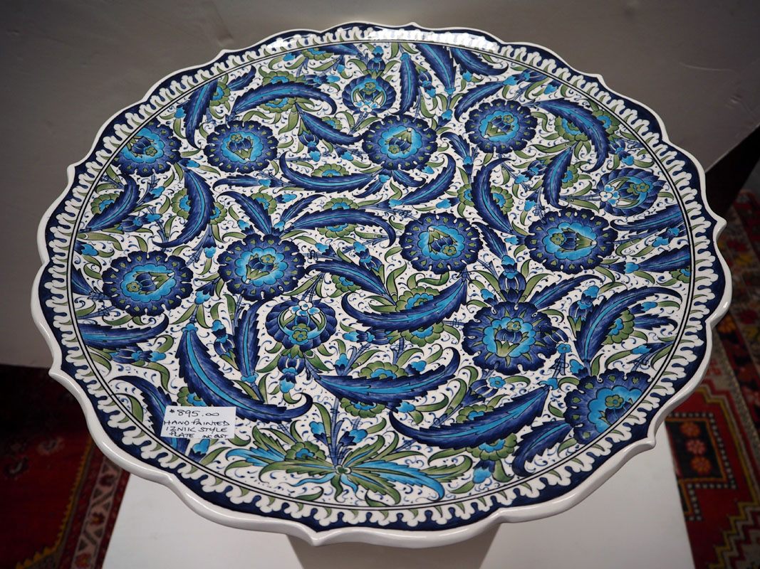 Hand painted floral Iznik style Plate
