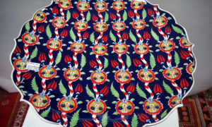 Hand painted iznik style Charger/platter