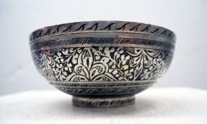 Ottoman period engraved hamam bowl