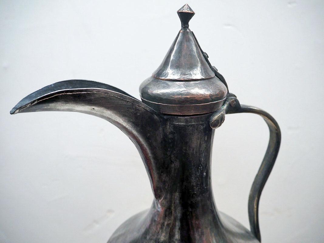 Ottoman period 19th century tinned copper ewer/jug