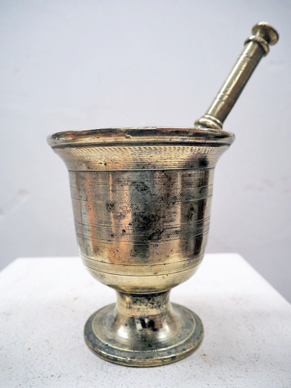 Ottoman period 19th century bronze Mortar and pestle