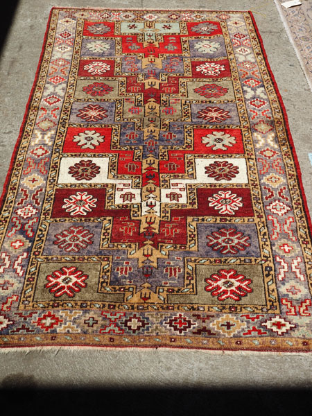 Double knotted Hand made wool on wool carpet from Turkey Sivas, approximately 70 - 80 years old
