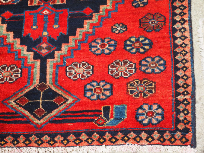 Hand made double knotted wool on wool Turkish runner from Malayer, approximately 40 years old