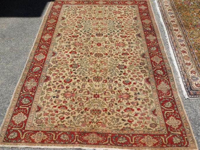 Hand made double knotted wool on cotton Turkish carpet from Kayseri, approximately 80 years old