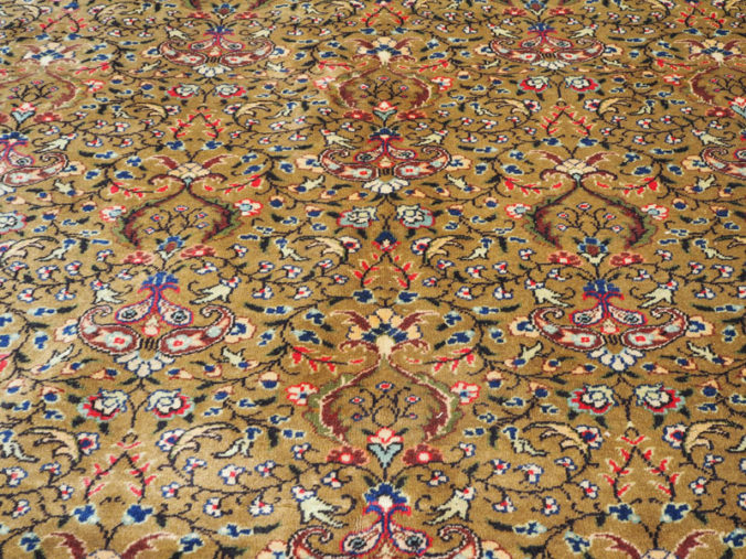 Hand made double knotted wool on cotton Turkish carpet from Kayseri, approximately 70 years old