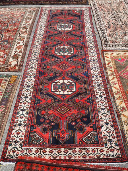 Hand knotted wool on cotton Persian runner, Avshar, approximately 20 - 30 years old