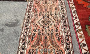 Hand made wool on cotton Persian carpet from Hamadan, approximately 70 - 80 years old