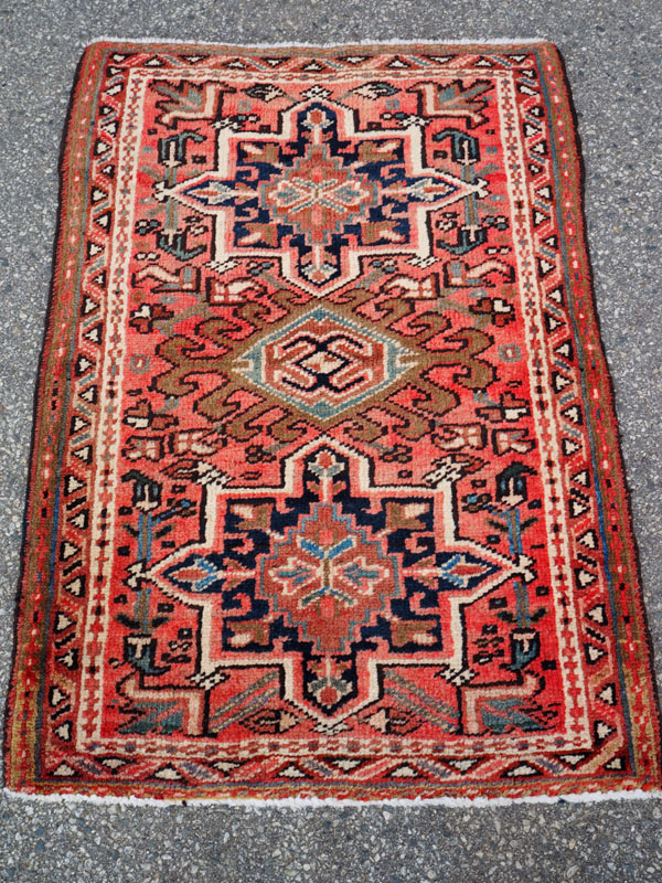 Double knotted hand made wool on wool Turkish carpet from Karaca, approximately 60 - 70 years old