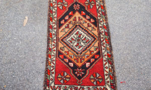 Double knotted hand made wool on cotton Turkish Denizle, approximately 40 - 50 years old
