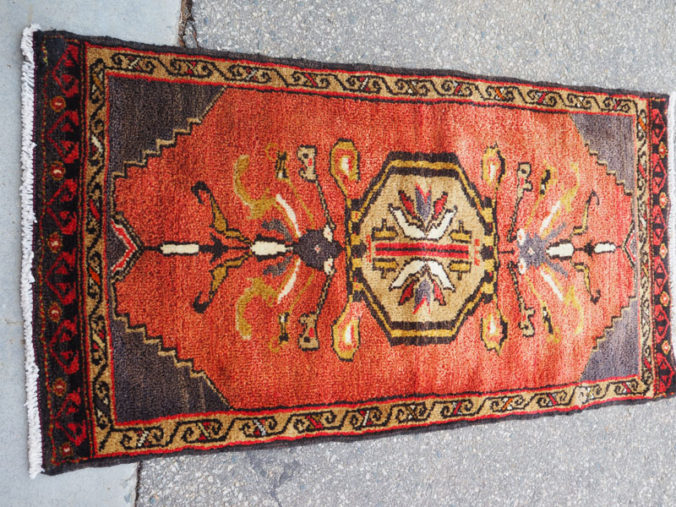 Double knotted hand made wool on wool Turkish carpet from Konya Shafak, approximately 50 - 60 years old