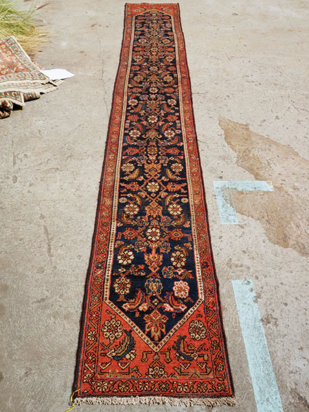 Hand made wool on cotton Persian runner Feraghan Souruk, approximately 100 years old