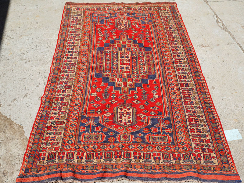 North west Persian wool on wool Embroidered Kilim 'Rahra', approximately 10 years old