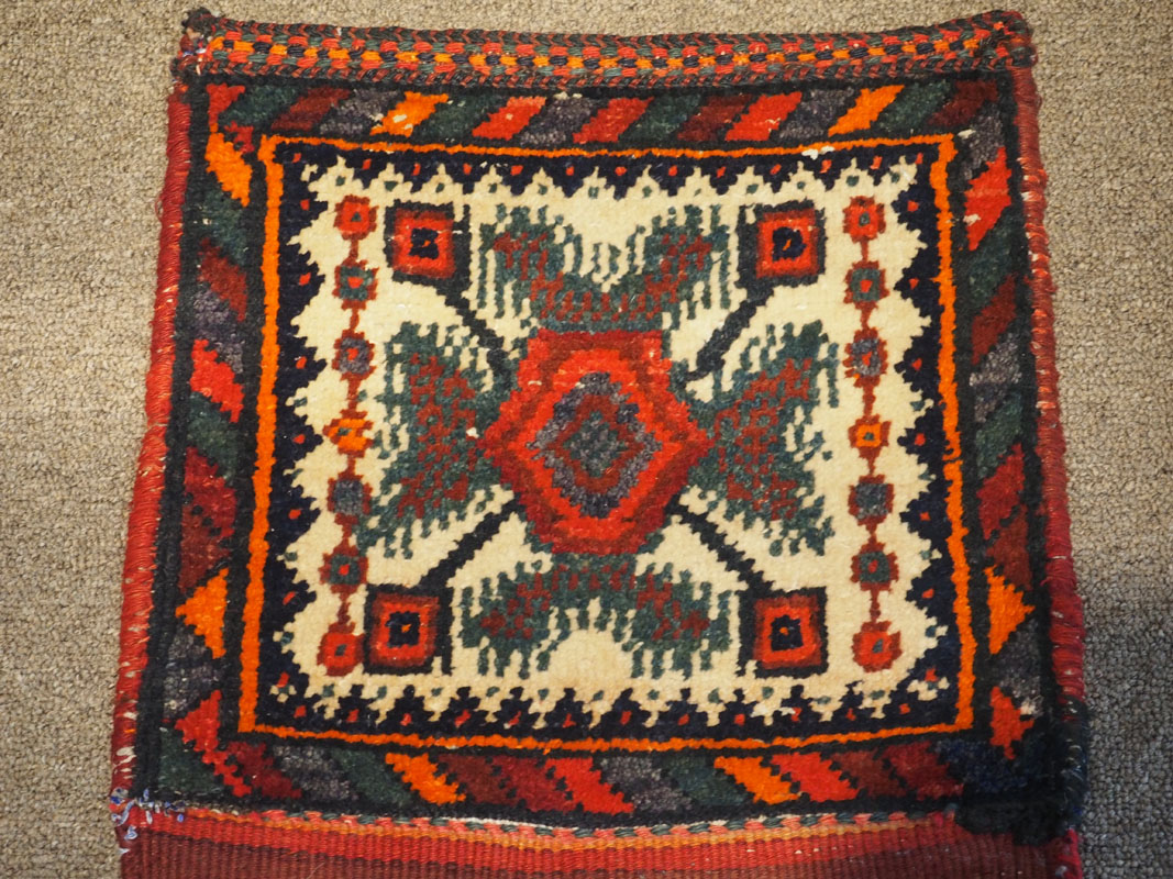 Hand woven wool on wool Kurdish weaving, approximately 70 - 80 years old