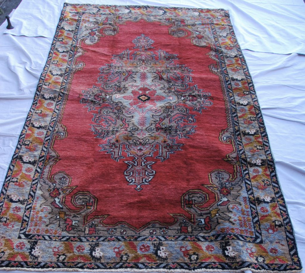 T792 Konya Karaman Kassabagh double hand knotted wool on wool carpet approximately 100 years old 2.65 x 1.51 $1,985.00