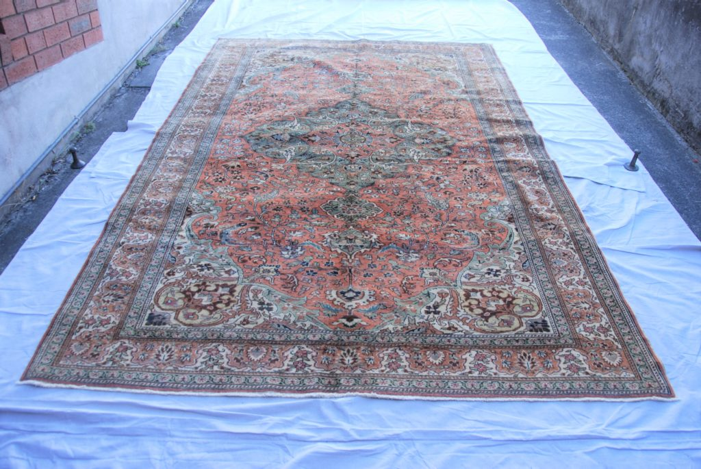 T806 Turkish Kayseri hand knotted wool on cotton carpet approximately 50 years old 3.06 x 2.00 $1,985.00
