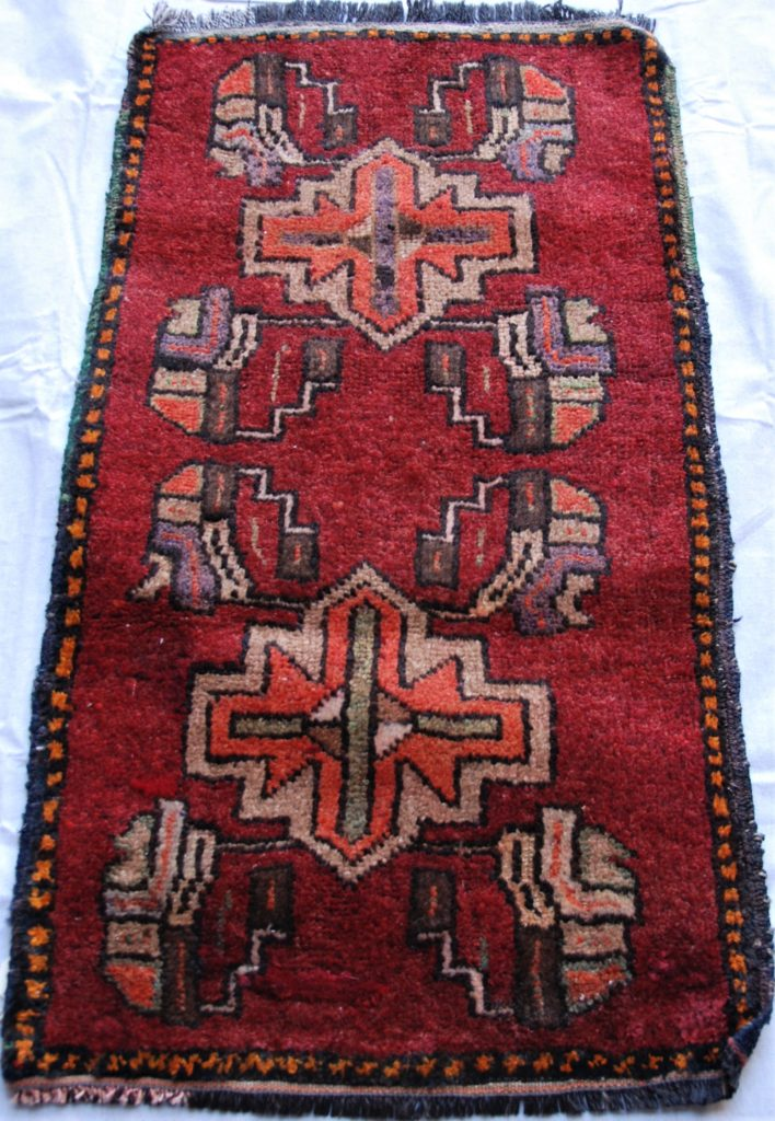 T751 Nigde carpet double hand knotted wool on wool, approximately 40 years old 0.96 x 0.52 $295.00