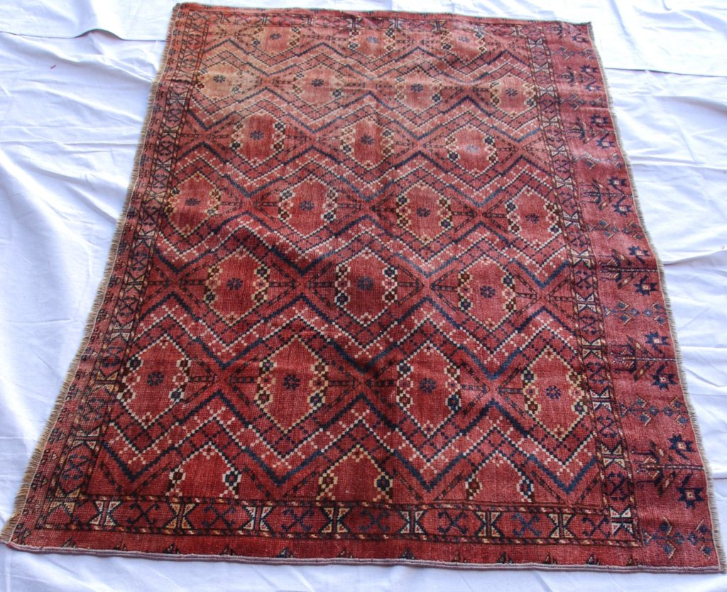 T788 Ersari tribe Turkoman hand knotted wool on wool horse cover 1.65 x 1.08 $795.00