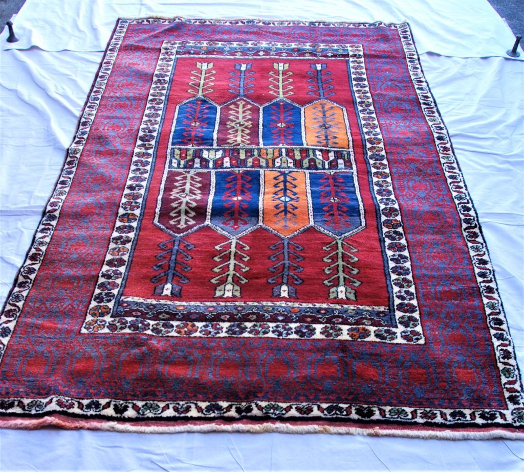 T793 Konya Kacadar hand double knotted wool on wool carpet approximately 80 years old 2.61 x 1.55 $1,985.00