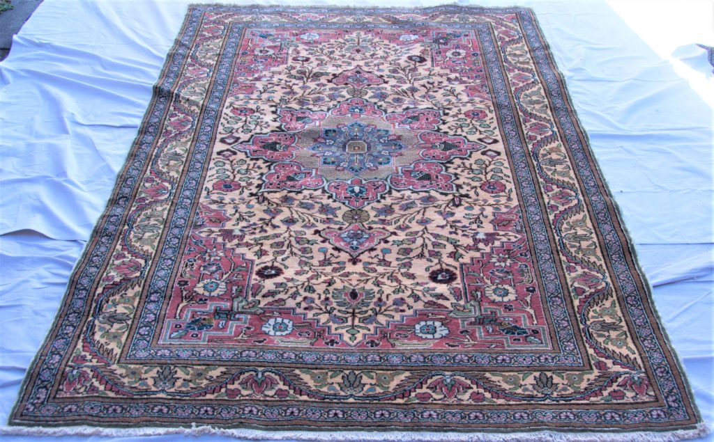 T814 Kayseri hand double knotted wool on cotton carpet approximately 50 years old 2.15 x 1.45 $1,185.00