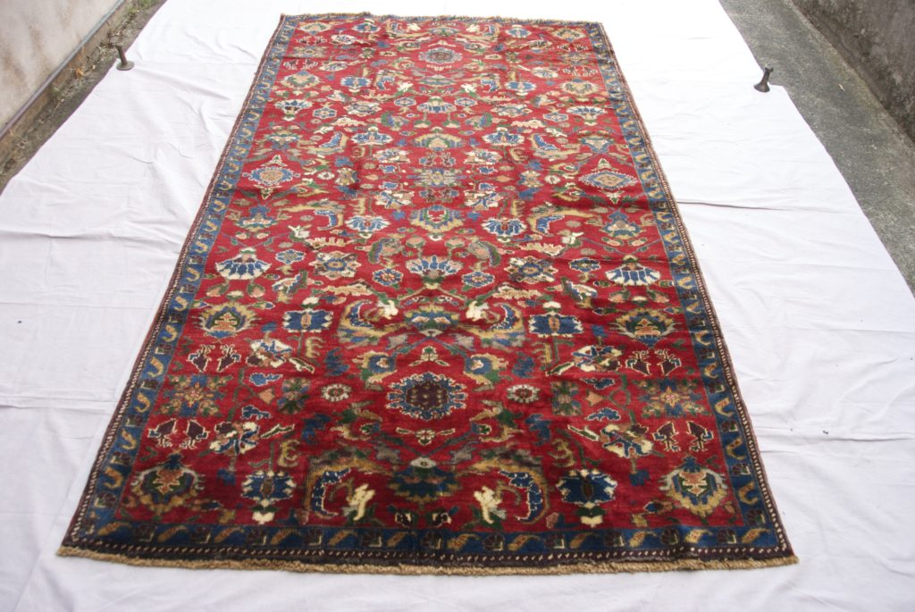 T822 Konya Karapinar hand double knotted wool on wool   carpet approximately 50 years old 2.67 x 1.40 $1495.00