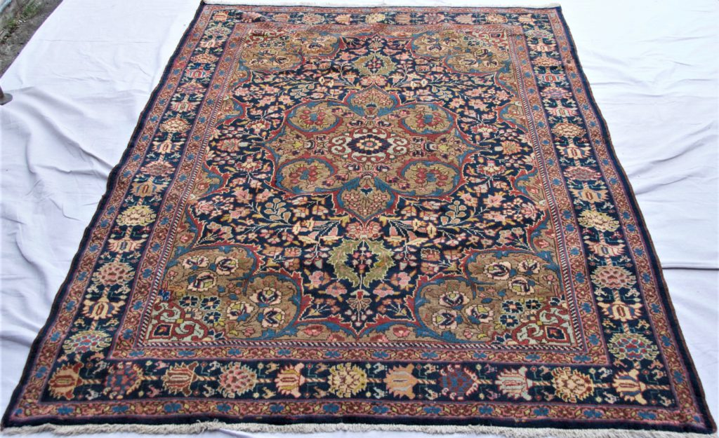 T824 Persian Zenjan hand knotted wool on cotton carpet approximately 80 years old 2.11 x 1.48 $1,595.00