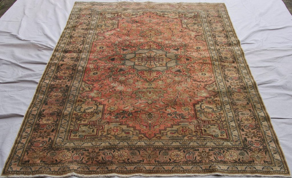 T831 Kayseri hand double knotted wool on cotton carpet approximately 50 years old 2.20 x 1.48 $1,395.00