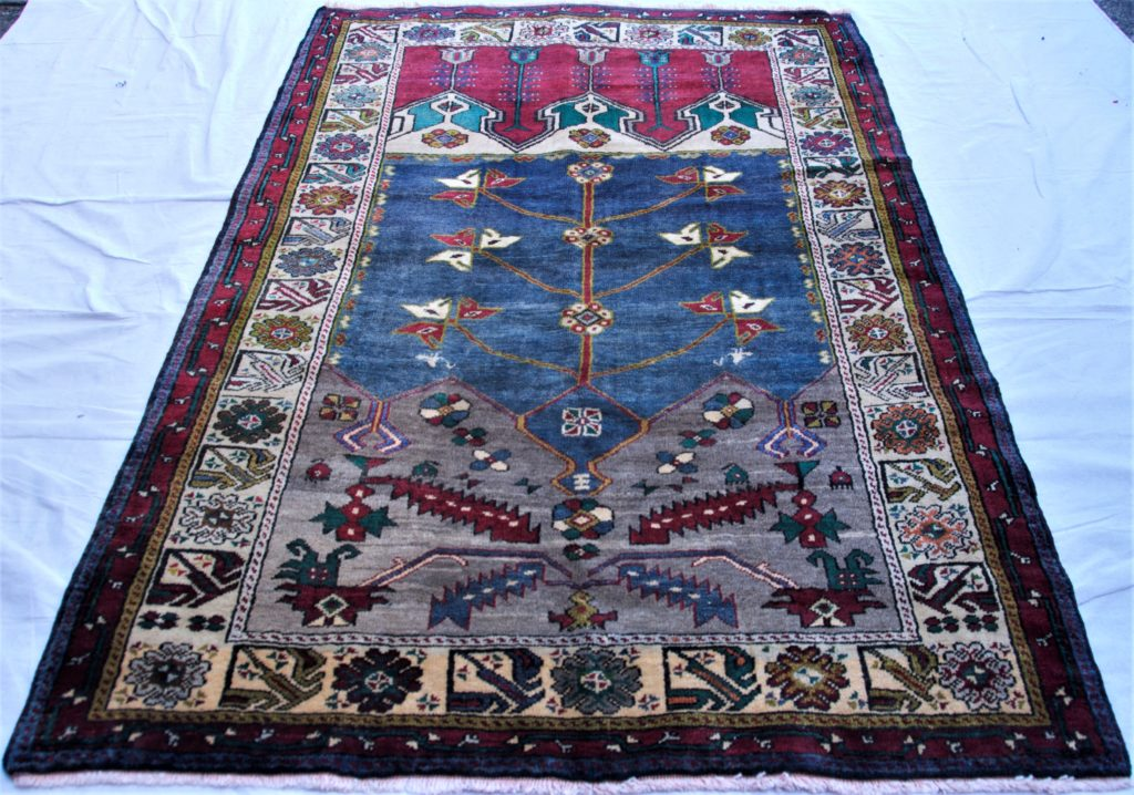 T847 Konya Indige niche hand double knotted wool on wool carpet approximately 40 years old 1.85 x 1.28 $985.00