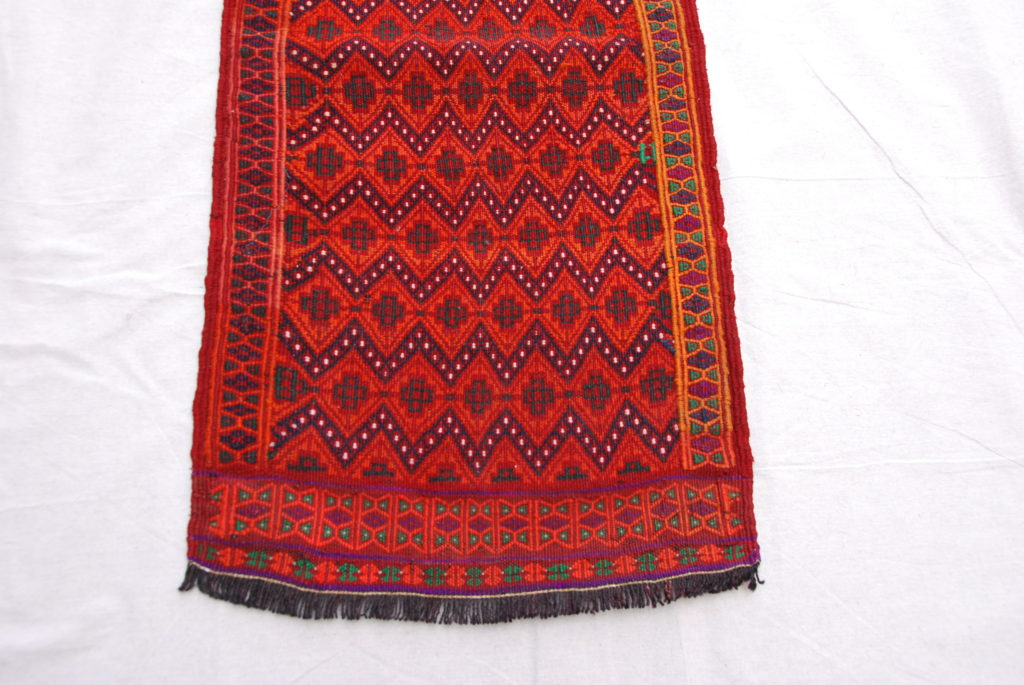 Belouch soumac runner hand woven  wool on wool 20-30 years old 2.16 x 0.47 $695