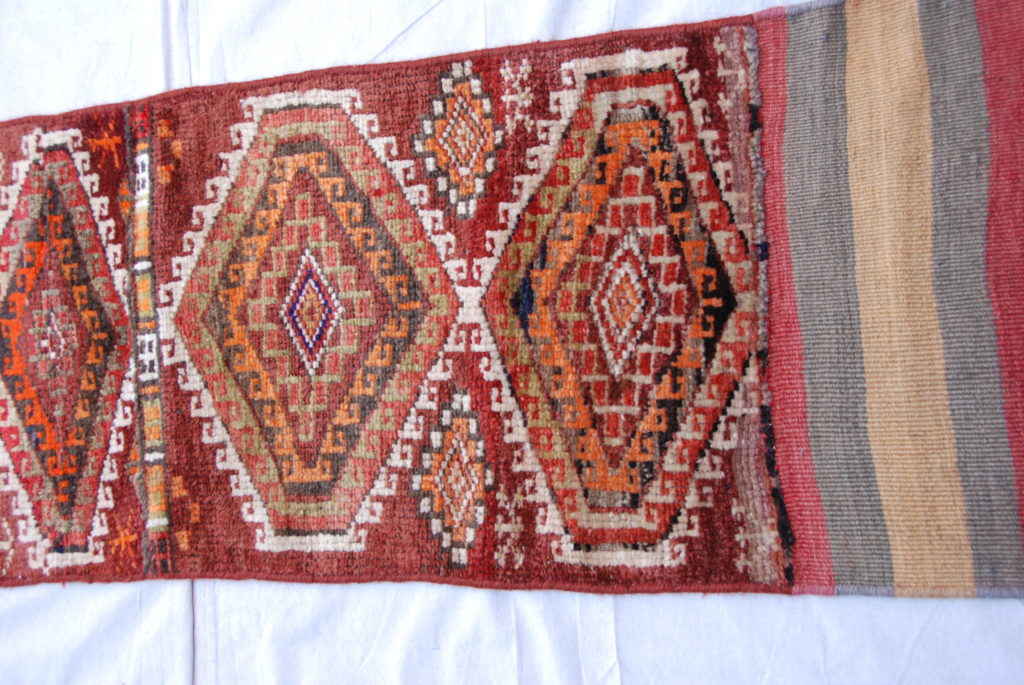Hand knotted & woven wool on wool Besich runner from Northern Iran 2.23 x 0.48 $475