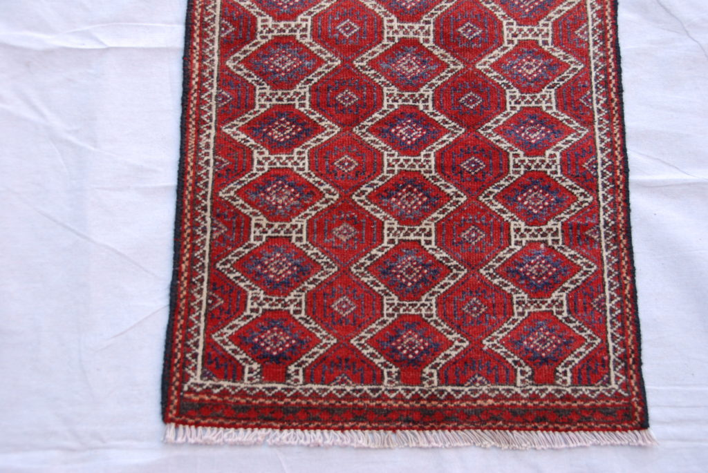 Timur Belouch hand woven and knotted wool on wool runner 60-70 years old 1.63 x 0.52 $695
