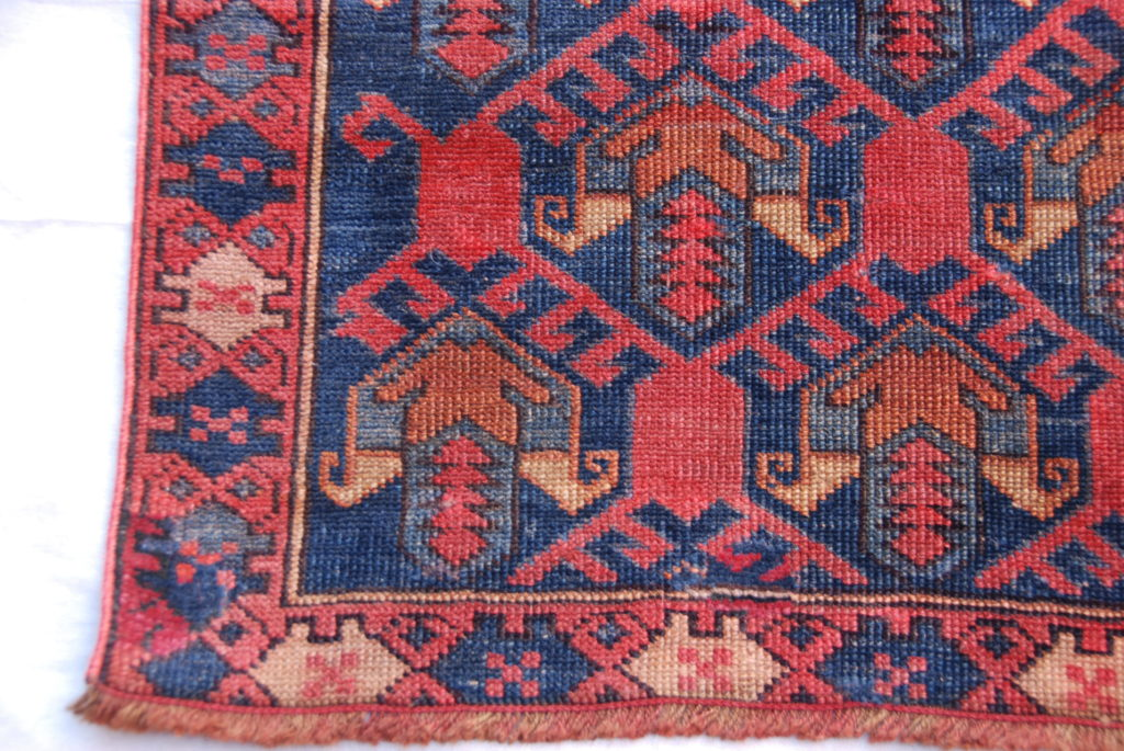 North West Azerbaijan, Shirvan, hand woven and knotted wool on wool runner 100 years old 1.29 x 0.60 $595